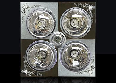 YB-04四灯浴霸灯(钢化玻璃面板)